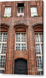 Pretty Facade Acrylic Print by Sophie Vigneault