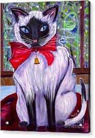 Pretty Fat Cat Acrylic Print by Phyllis Kaltenbach