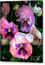Acrylic Print featuring the digital art Pretty In Pink by Dale   Ford