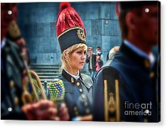 Acrylic Print featuring the photograph Pretty Little Drummer Girl by Jack Torcello