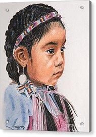 Pretty Native American Girl Acrylic Print