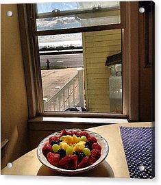 #preworkout #breakfast #fresh #fruit Acrylic Print