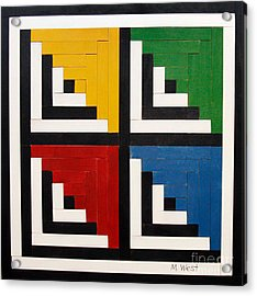 Primary Colors Acrylic Print by Marilyn West