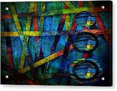 Primary Three Rectangle Acrylic Print by Angelina Vick