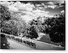 Princes Street Gardens In Edinburgh City Centre Scotland Uk United Kingdom Acrylic Print by Joe Fox