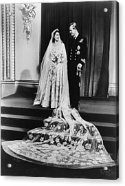Princess Elizabeth And Prince Philip Acrylic Print by Everett