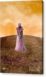 Princess In Gas Mask Acrylic Print by Jill Battaglia