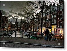 Prinsengracht And Spiegelgracht. Amsterdam Acrylic Print