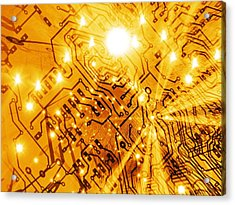Printed Circuit Board, Artwork Acrylic Print by Mehau Kulyk