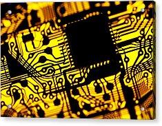 Printed Circuit Board, Artwork Acrylic Print by Pasieka