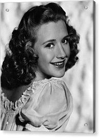Priscilla Lane, Ca. 1940s Acrylic Print by Everett