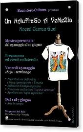 Programma Ed Eventi Collaterali Acrylic Print by Arte Venezia