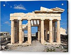 Propylaia - Greece Acrylic Print by Constantinos Iliopoulos