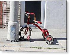 Protecting The Wheelz Acrylic Print by Robert Sebolt