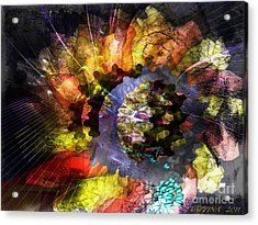 Acrylic Print featuring the digital art Protein Fleur by Danica Radman
