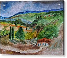 Acrylic Print featuring the painting Provence Colors by MaryAnne Ardito