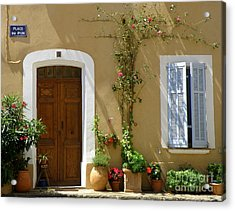 Acrylic Print featuring the photograph Provence Door 3 by Lainie Wrightson