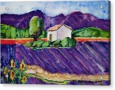 Provence Acrylic Print by Regina Ammerman