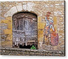 Acrylic Print featuring the photograph Provence Window And Wall Painting by Dave Mills