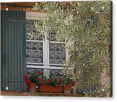 Provensale Window Acrylic Print by Manuela Constantin