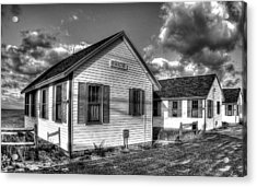 Provincetown Cottages Bw Acrylic Print