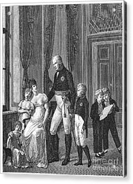 Prussian Royal Family, 1807 Acrylic Print by Granger