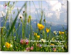 Psalm 107 1 Acrylic Print