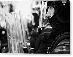 Psni Northern Ireland Riot Police Acrylic Print by Joe Fox