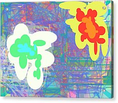 Psychedelic Drips Visit The Water Lilies Acrylic Print