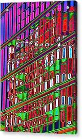 Psychedelic Reflection Of Barcelona 12 Acrylic Print by Richard Henne
