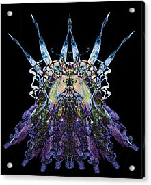 Psychedelic Spines Acrylic Print by David Kleinsasser