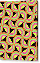 Psychedelic Squares Acrylic Print by Louisa Knight