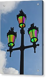 Psychedelic Streetlamps Acrylic Print by Richard Henne