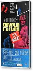 Psycho, Top Left Anthony Perkins Top Acrylic Print by Everett