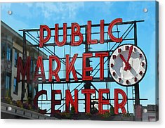 Public Market Center In Seattle Washington Acrylic Print