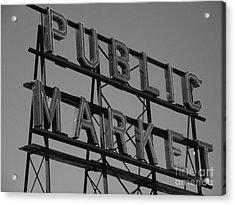 Public Market Acrylic Print by Monika Pabon