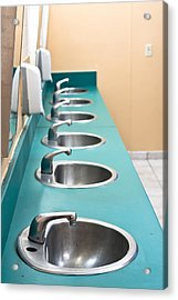 Public Restroom Acrylic Print by Tom Gowanlock
