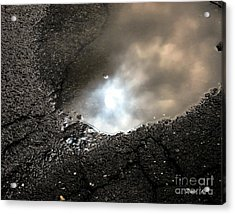 Puddle Art 7 Acrylic Print by Dale   Ford