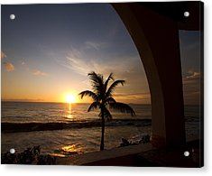 Puerto Rican Sunset I Acrylic Print by Tim Fitzwater