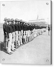 Puerto Ricans Serving In The American Colonial Army - C 1899 Acrylic Print by International  Images