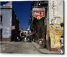 Puerto Rico. Street In San Juan, Puerto Acrylic Print by Everett