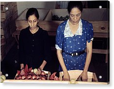 Puerto Rico. Women Sorting And Packing Acrylic Print by Everett