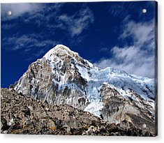 Pumori-everest Base Camp Trek-nepal Acrylic Print by Copyright Michael Mellinger