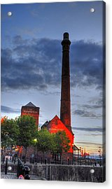 Pump House Liverpool Acrylic Print by Barry R Jones Jr