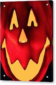 Pumpkin Smile Acrylic Print
