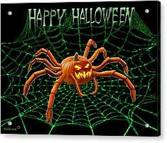 Pumpkin Spider Acrylic Print by Glenn Holbrook