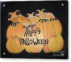 Pumpkin Two Acrylic Print by Rachel Carmichael