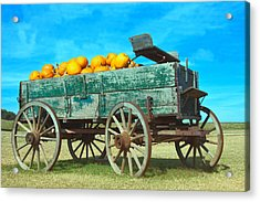 Acrylic Print featuring the photograph Pumpkin Wagon by Susi Stroud