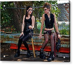 Punk Women Acrylic Print by Jim Boardman