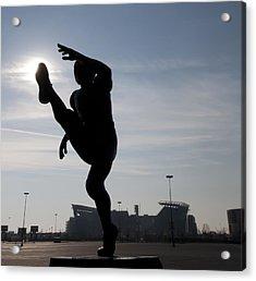 Punting The Sun - Philadelphia Acrylic Print by Bill Cannon